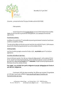 Frais Scolaire2019-2020